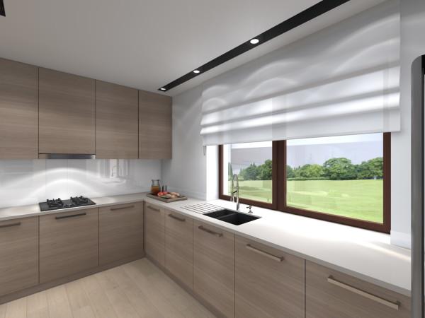 <span>salon z kuchnią w drewnie</span><i>→</i>