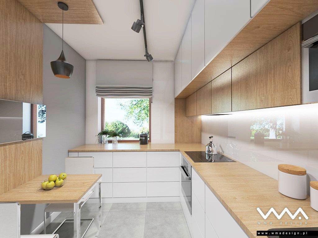 Kuchnia W Bieli I Drewnie Wma Design Warszawa
