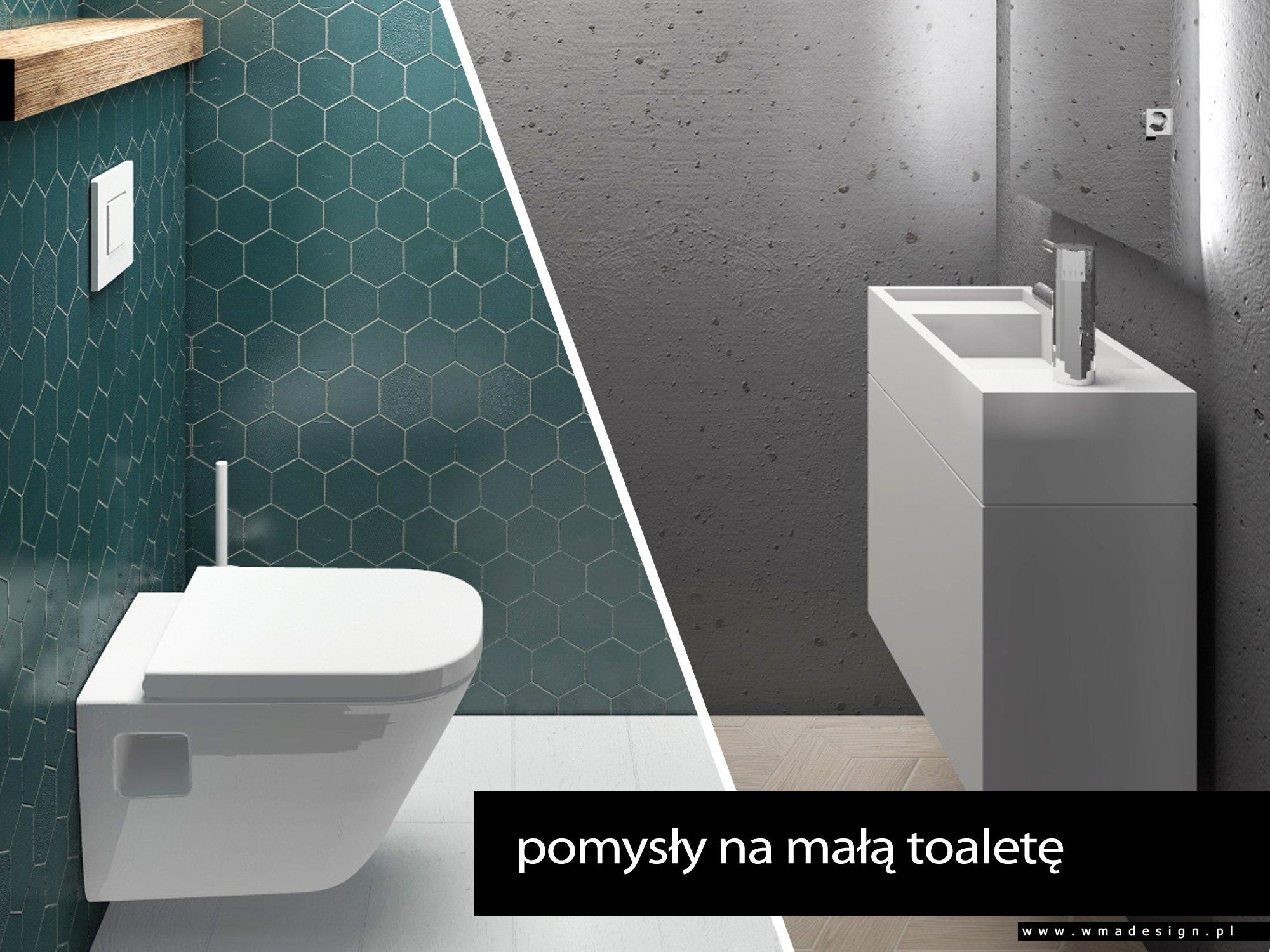 pomysły na małą toaletę Warszawa WMA Design