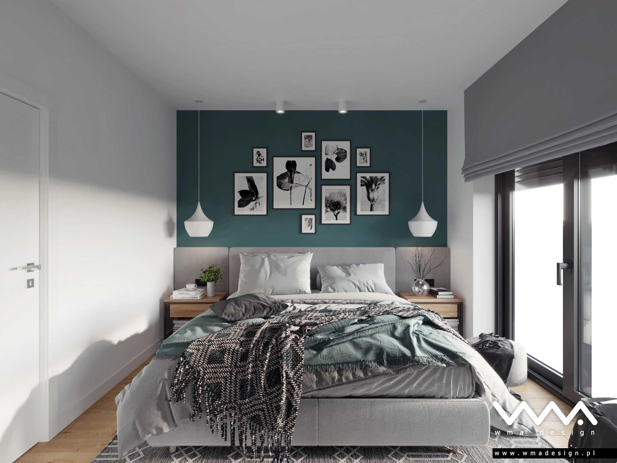 projekt sypialni WMA Design